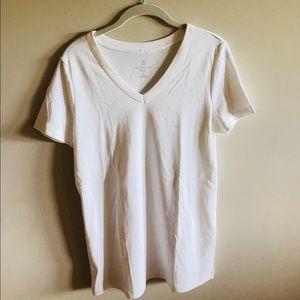 Lands End Plain White T-Shirt